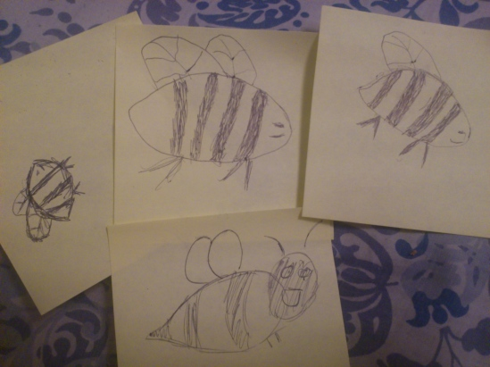 Marsha has pretty much made it mandatory for all visitors to drawn bees.