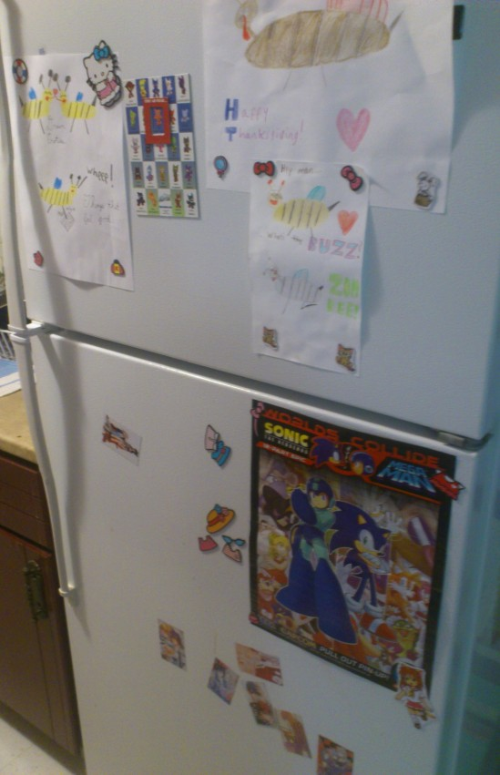 I gotta fill up the rest of our fridge door. Hmmm . . .